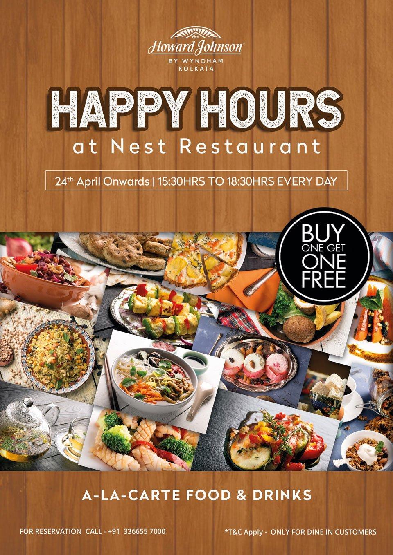 Happy-Hours-at-Nest-Restaurant-Kolkata-Restaurant-near-Kolkata-Airport