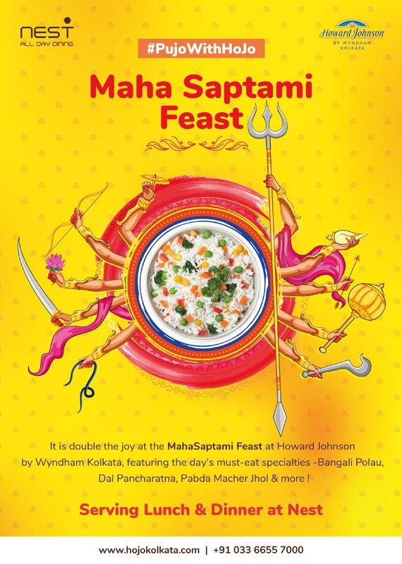 maha Saptami feast lunch dinner Kolkata Durga Puja Offer