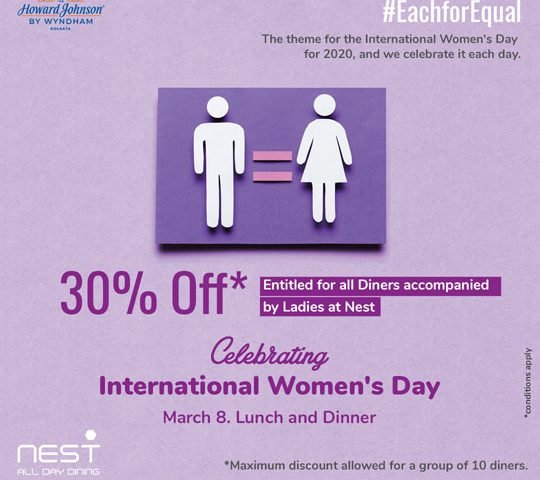 International-Womens-Day-Dining-Offer-Kolkata-Hotel-Howard-Johnson